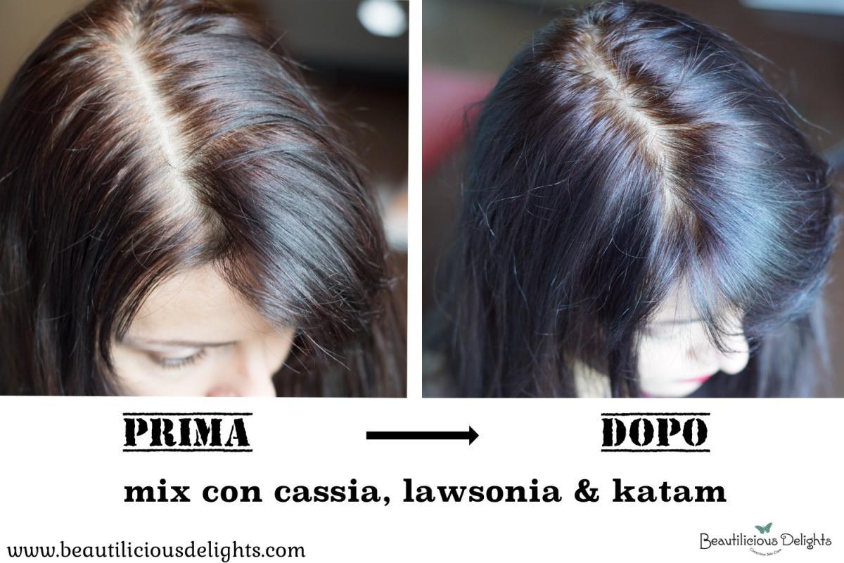 Hennè copre i capelli bianchi